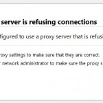 Firefox Can Not Connect To Proxy Server