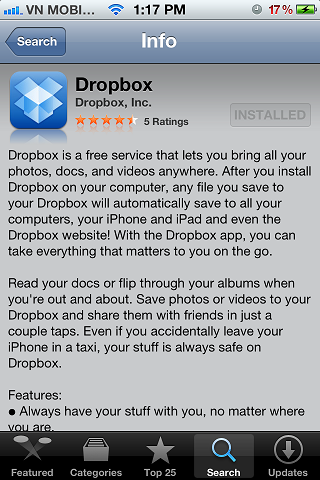 iPhone Dropbox